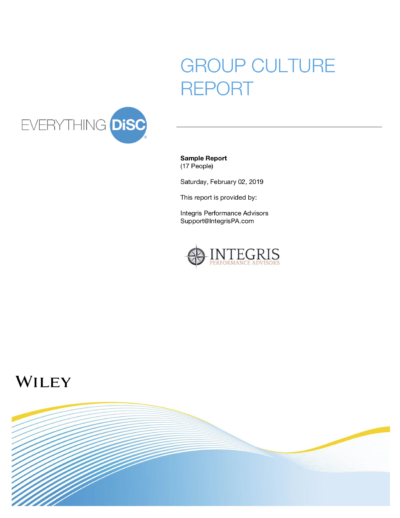 Group Culture Report Cover